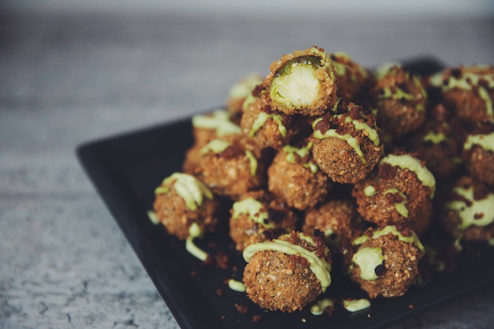 cheesy brussels sprout tots | RECIPE on hotforfoodblog.com