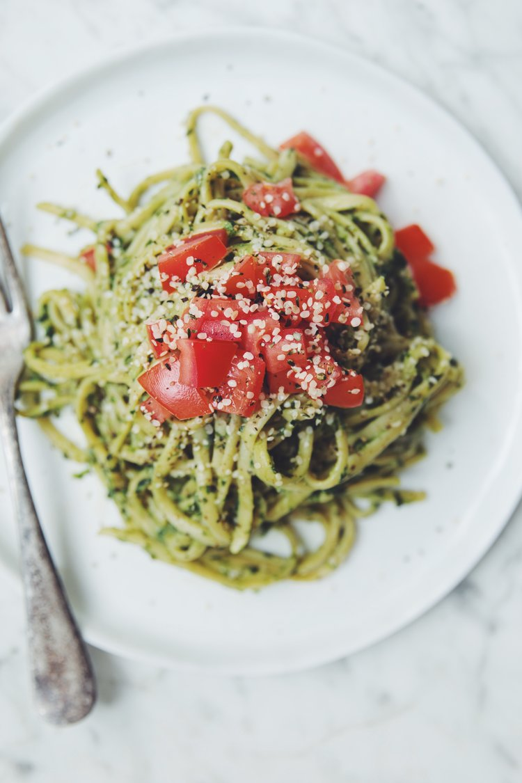 Easy vegan pasta sauces hot for food avocado pesto pasta recipe on hotforfoodblog forumfinder Image collections