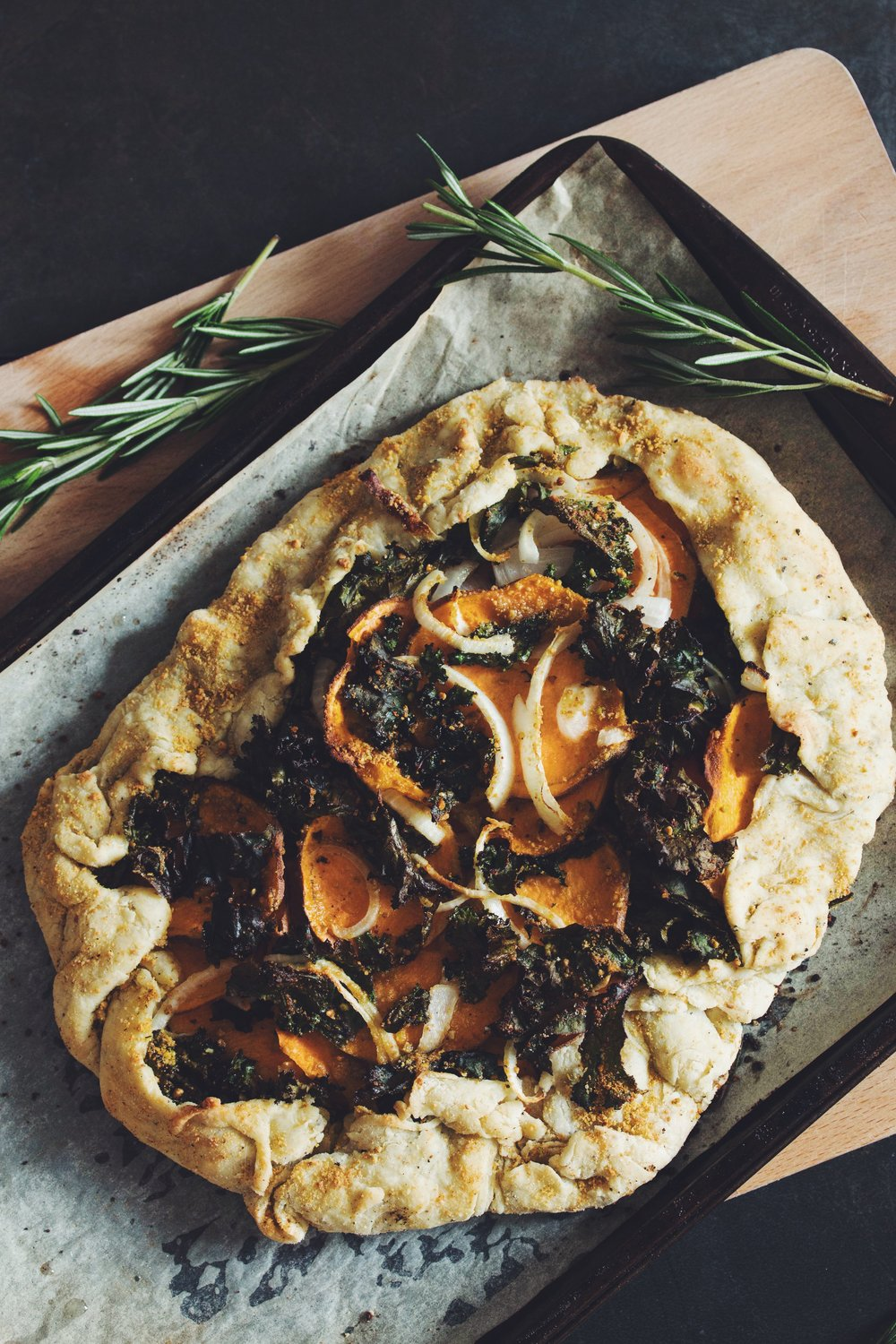 sweet potato kale galette | RECIPE by hot for food