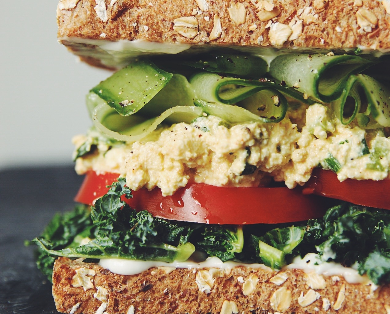 eggless salad sandwich_hot for food
