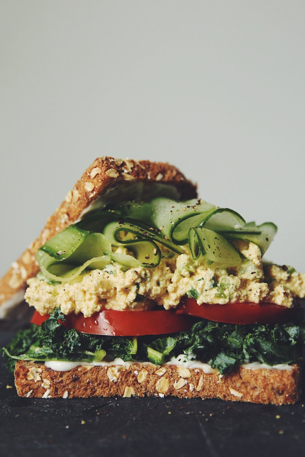 eggless salad sandwich (vegan) | RECIPE by hot for food