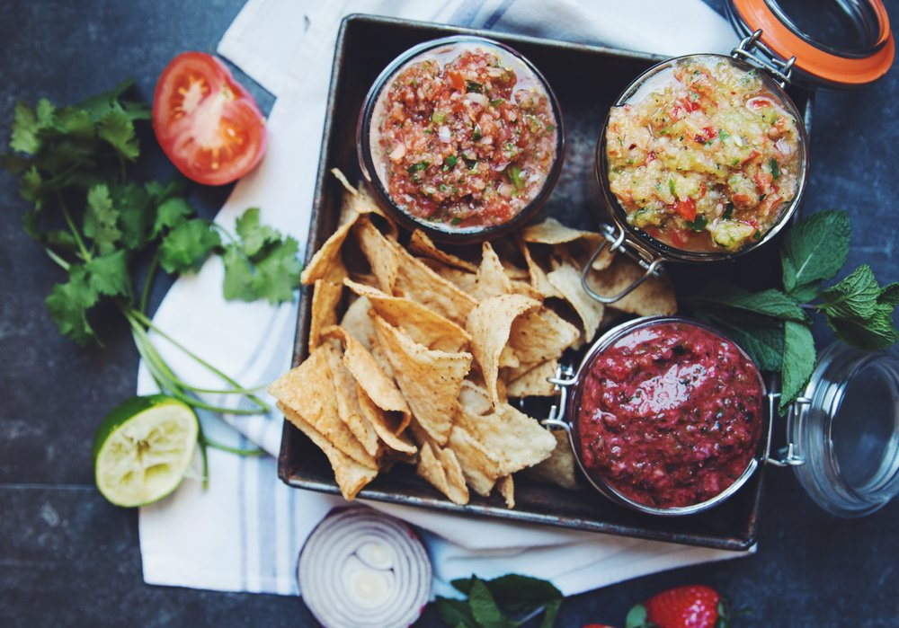 summer salsas | RECIPES on hotforfoodblog.com