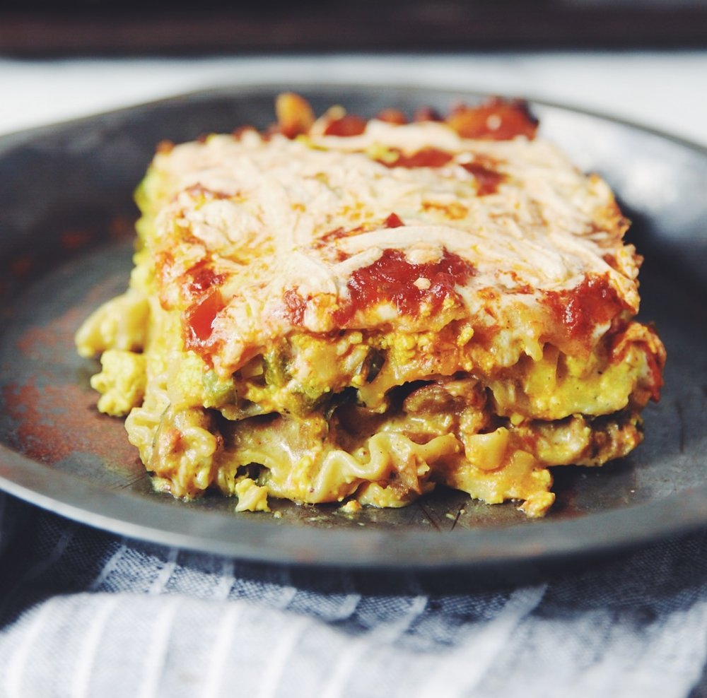 vegan breakfast lasagna | RECIPE on hotforfoodblog.com