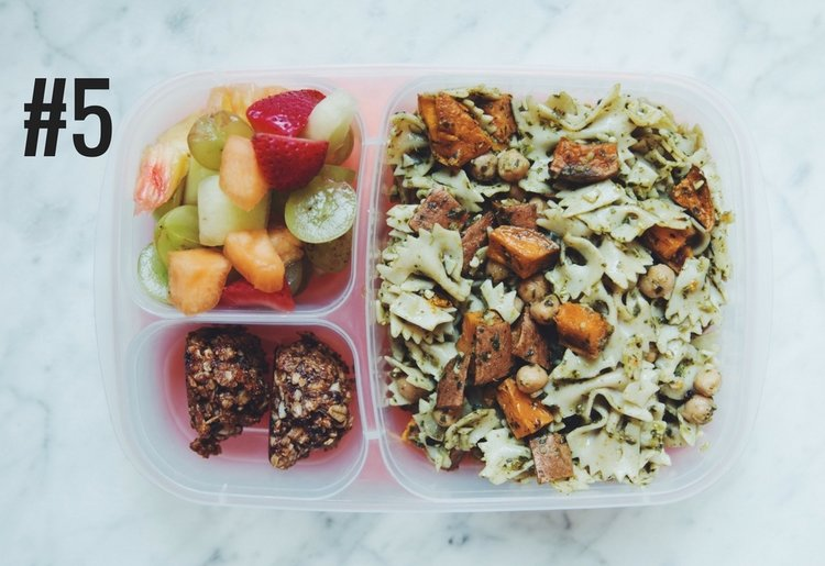 5 easy vegan back to school bento boxes hot for food bento box 5 sweet potato pesto pasta salad trail mix cookies and forumfinder Gallery