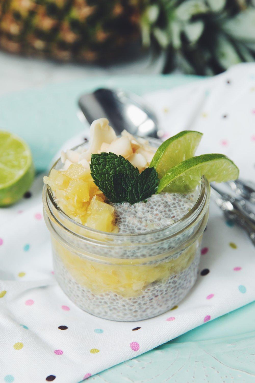 piña colada chia pudding | RECIPE on hotforfoodblog.com