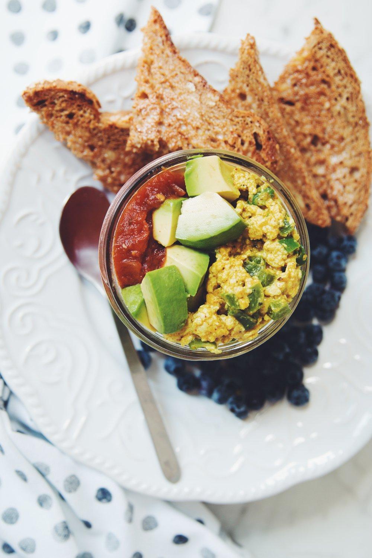 easy tofu scramble soufflé | RECIPE on hotforfoodblog.com