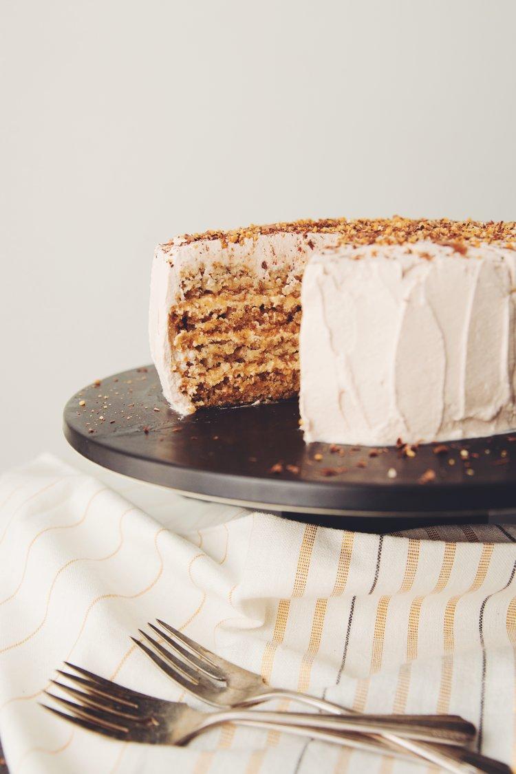 vegan hazelnut torte   RECIPE by hot for food