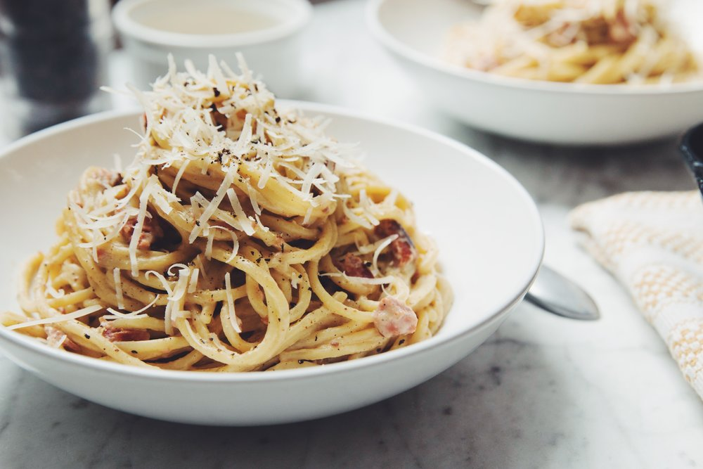 vegan carbonara  - it's not a dream! You can have a lighter and healthier carbonara for dins!
