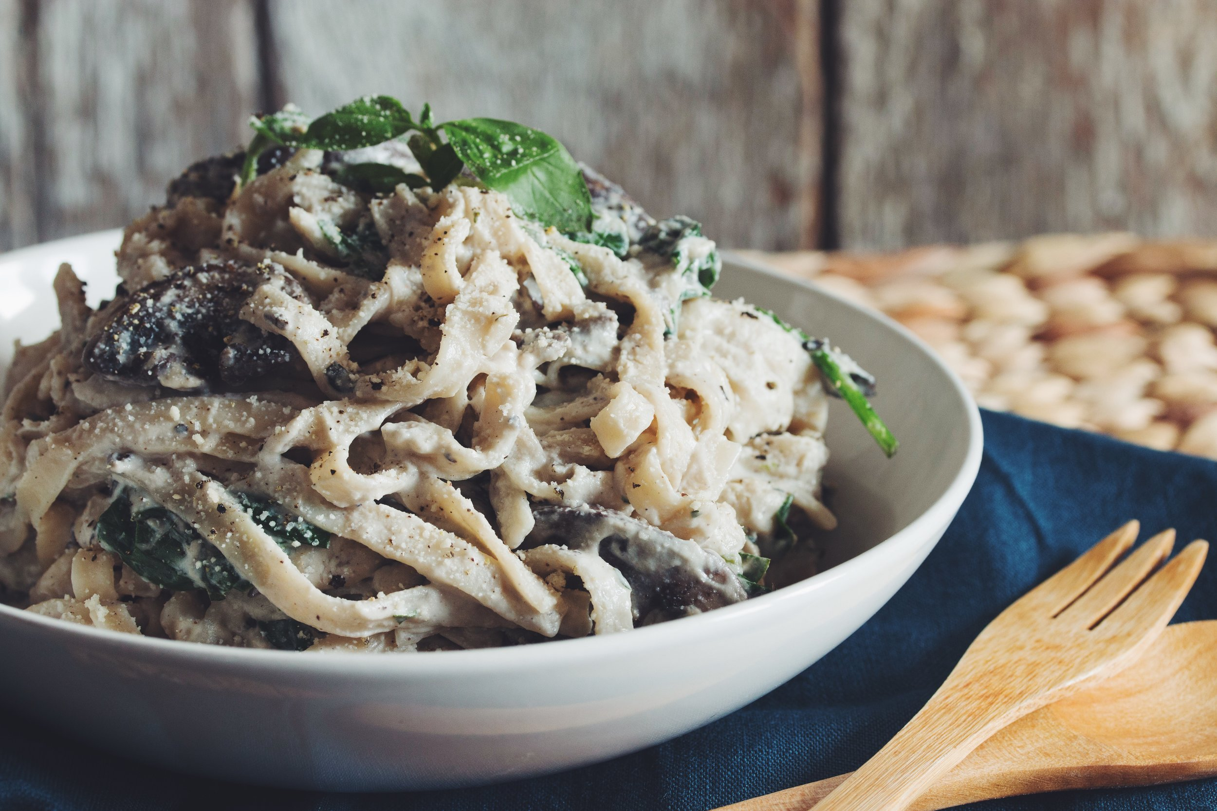fettuccine alfredo - this is a winner for dinner and will satisfy all your carby cravings!