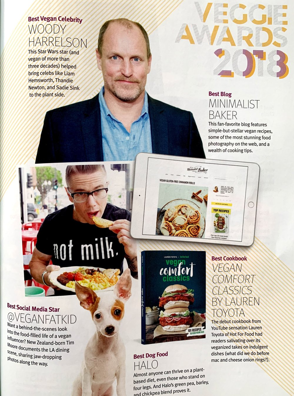 2018 VegNews Awards - hot for food wins best cookbook!