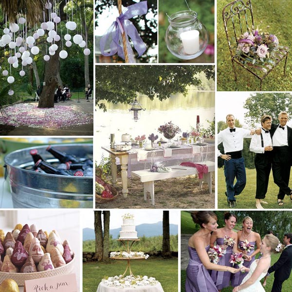 It has become very popular to find unique trendy ways to display all of your food, drinks, favors and more at weddings.  Cute baskets, buckets, old tables, and more are used to create an eye-catching display for guests.