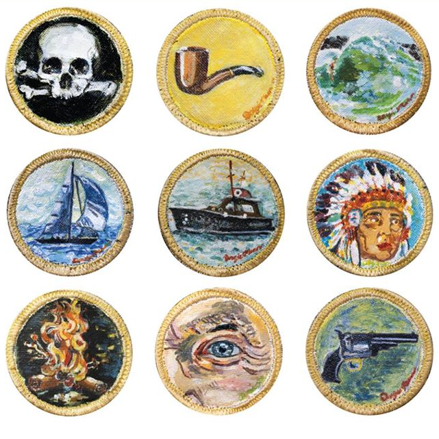 Each patch has been carefully hand painted by Dougie Mann - Founder of BOAT HAT - The goal of the patch is to showcase a high level of craftsmanship, and flexible way to invite collaboration amongst fellow boaters.