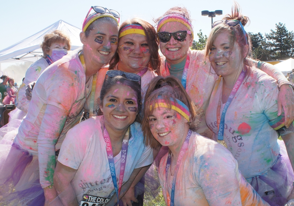 A great team - Oak Orchard represents at the 2015 Color Run!