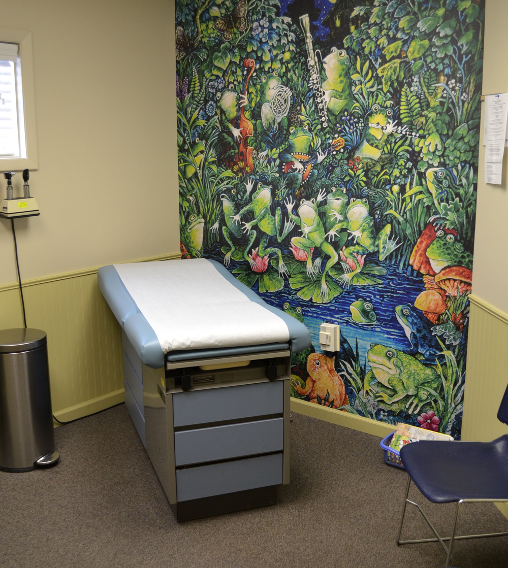 One of three updated pediatric exam rooms provided by BISCO