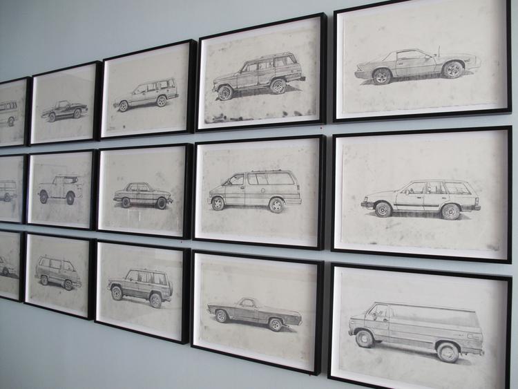 Framed Car + Truck Drawings — Jeremy Wagner