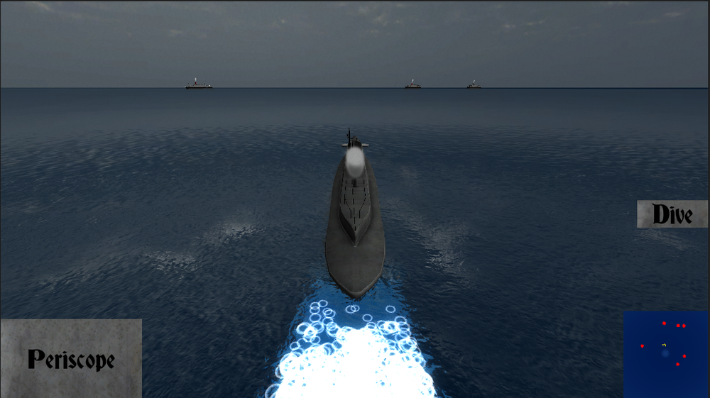 A German U-Boat hunting for Royal Navy.