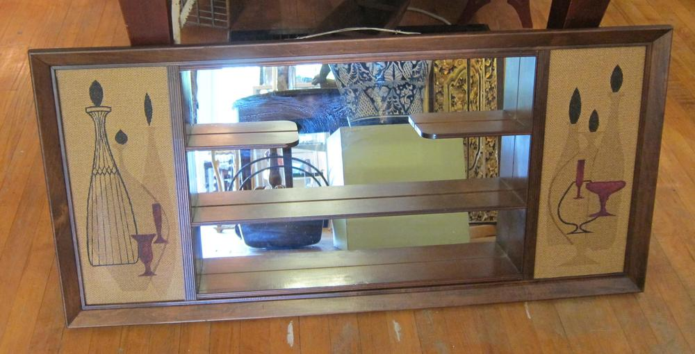 Is it a hall mirror with shelves? A behind-the-bar mirror? However you want  to use it, it's a quintessentially 1960s design. A mid-century modern mirror  ...