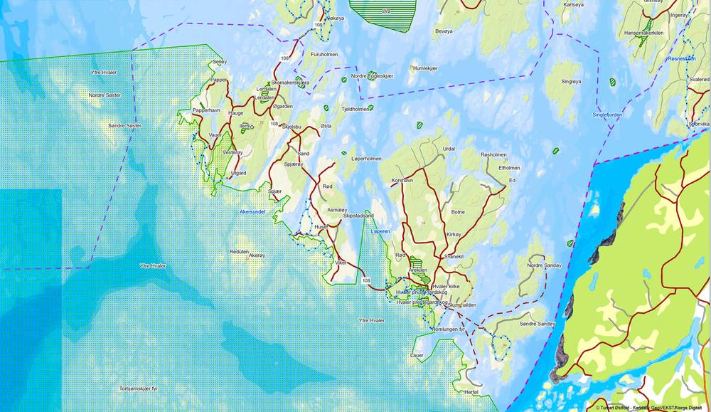 Map Hvaler Islands