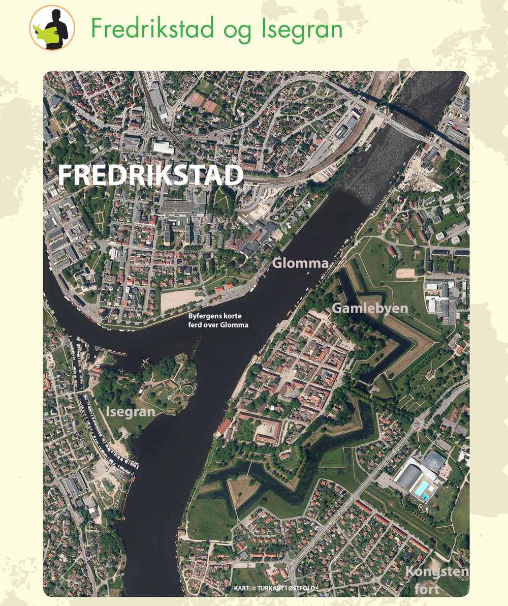 Map Fredrikstad the Fortified Town
