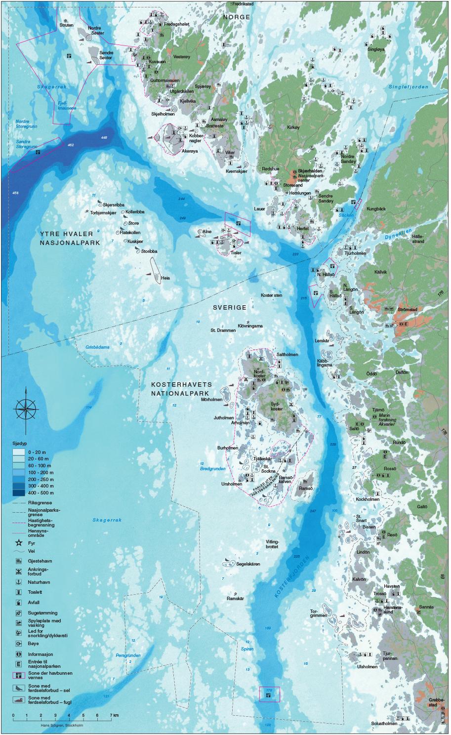 Map Ytre Hvaler Nationalpark