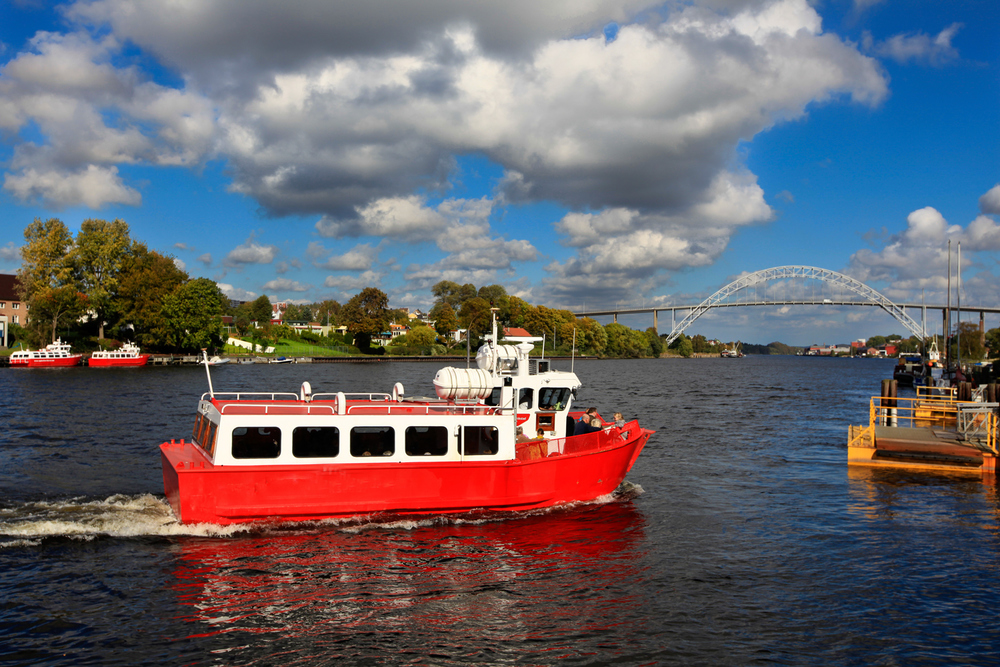 A trip with the Ferry in Fredrikstad is free of charge