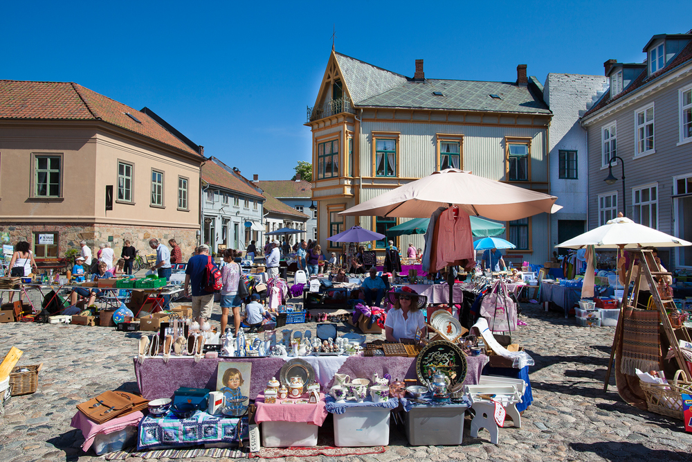 Market in The Old Town every saturday, all year around.