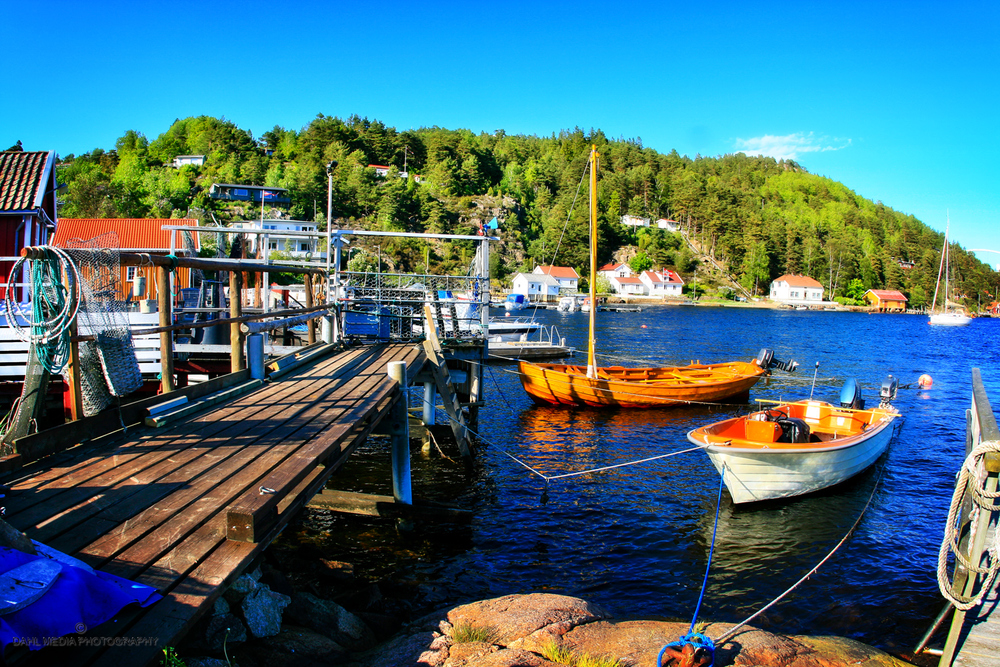 Charming waterfont environment in Sponvika, Halden