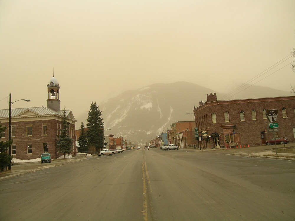 View from Silverton, CO during the D6 dust storm.