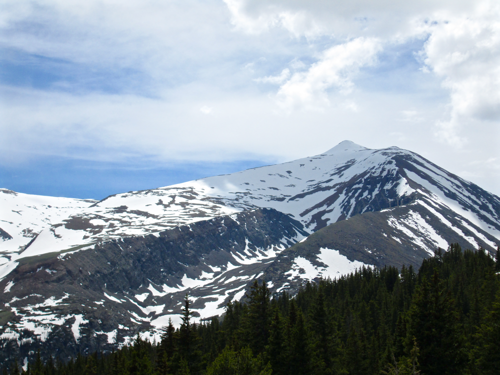 Mt. Lincoln (14,296') seen from Hoosier Pass on June 15, 2015