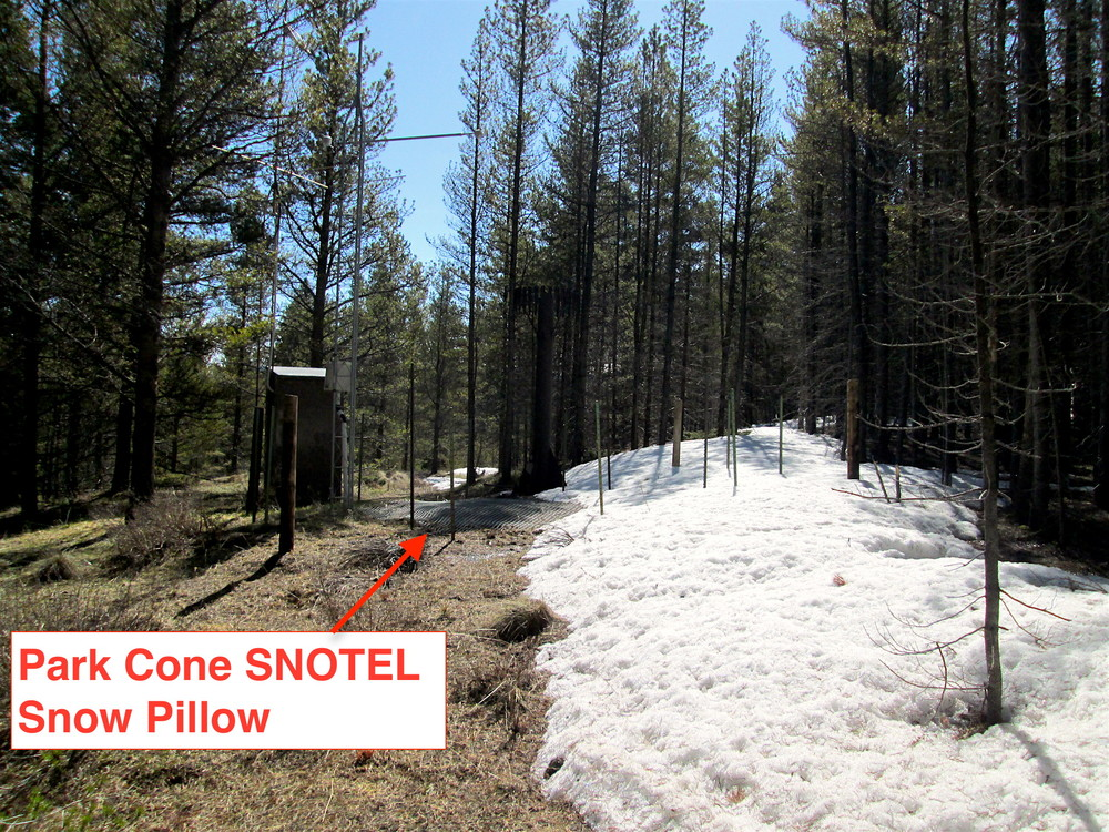 Park Cone SNOTEL on May 13, 2016.
