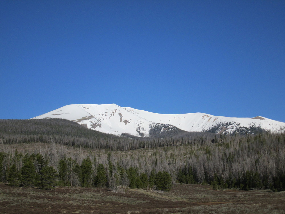 Willow Creek Pass looking towards Parkview Mountain.