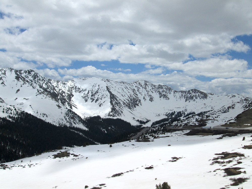 Loveland Pass on June 1.  Slight dust present but not visible in photo.