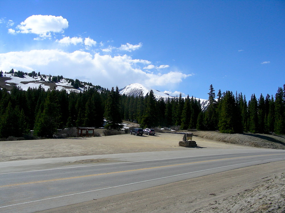 Looking across highway 9 at Hoosier Pass.