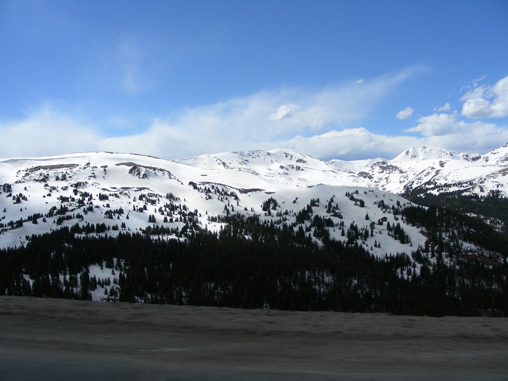 View towards the northwest from Loveland Pass.