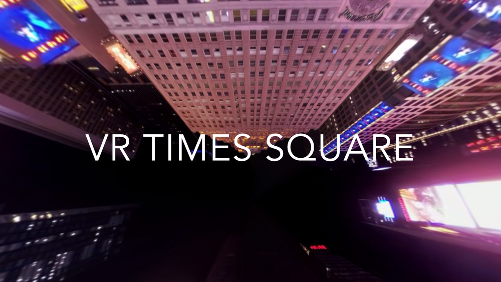 A 360° capture taken at midnight in Times Square, NYC. Click to open 360° video version, click and drag to look around. On mobile, click to use gyro or swipe.