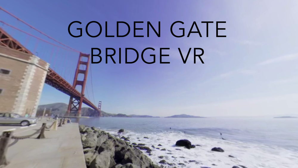 A 360° capture of the Golden Gate Bridge. Click to open 360° video version, click and drag to look around. On mobile, click to use gyro or swipe.