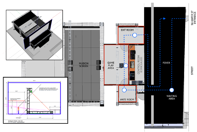 Scematic showing theater layout.