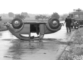 Image of Upside Down Car