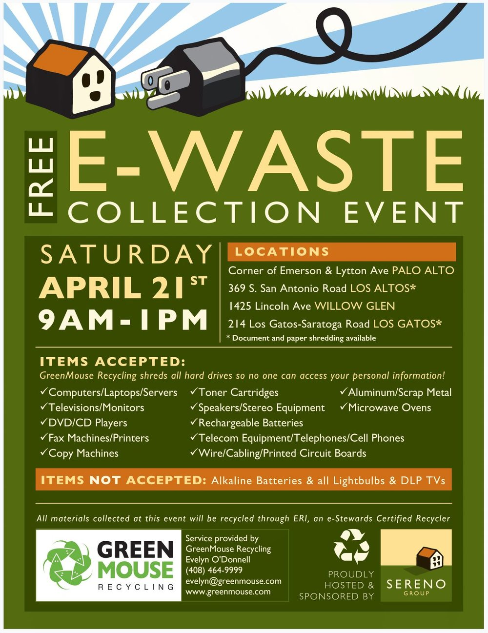 E Waste Event This Saturday April 21st Alex Wang Printed Circuit Board Recycling Equipment View