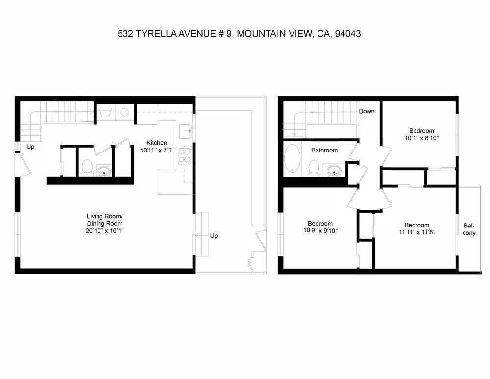 3526172358549-Floorplan- 532 Tyrella Avenue  9, Mountain View, CA, 94043_2D.jpg