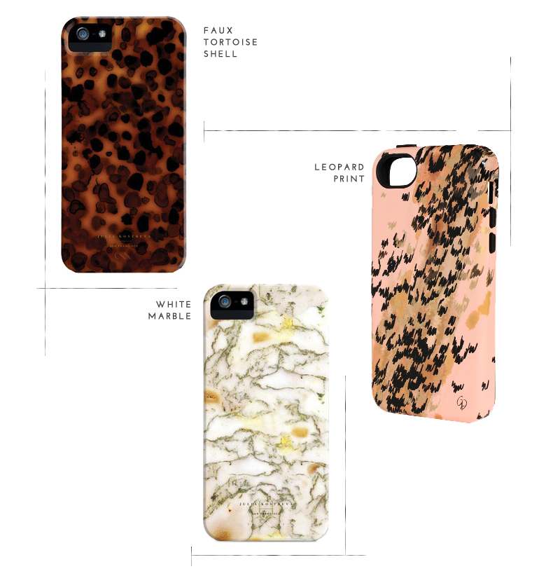 tortoise shell, marble, and leopard print iphone 5c cases