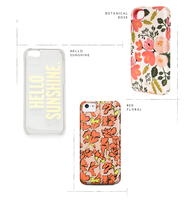 floral and graphic iphone 5c cases