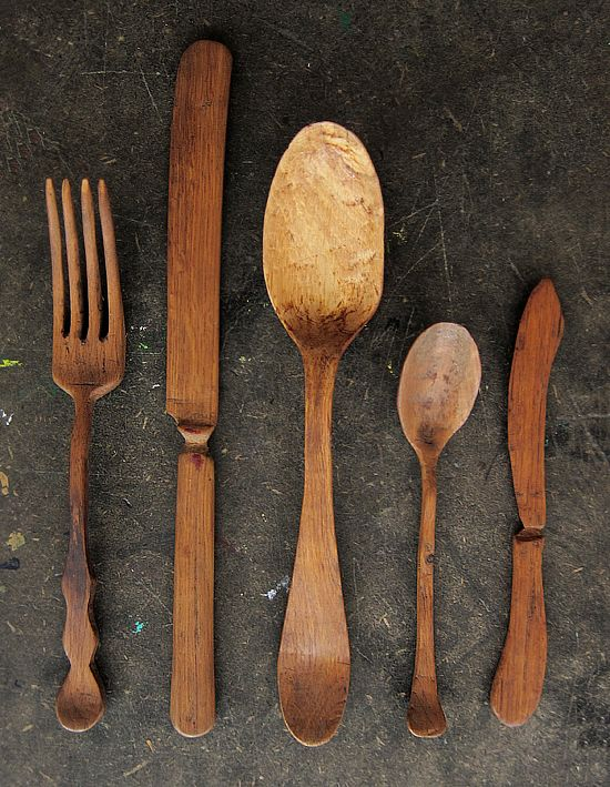 wooden utensils | via: bekuh b.
