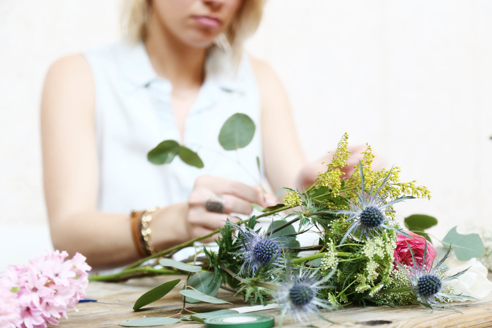 bouquet basics workshop | via bekuh b.