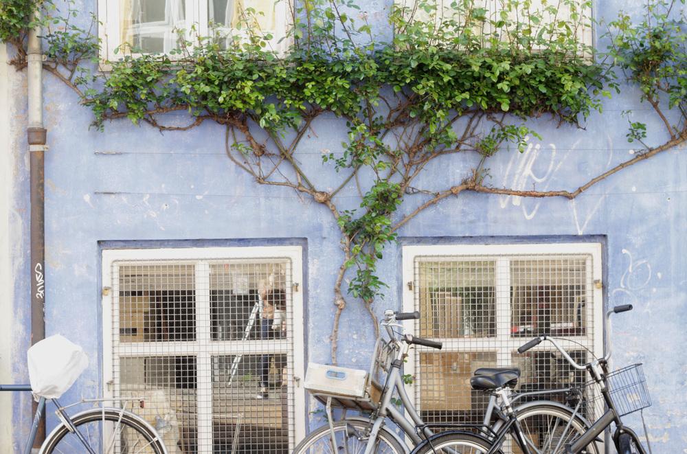 christianhavn neighborhood bikes, copenhagen | via: bekuh b.