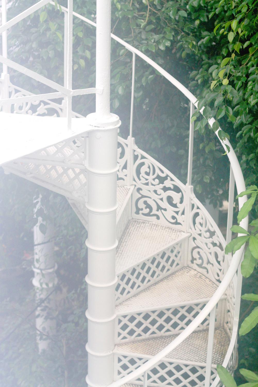 spiral staircase in copenhagen botaical gardens | via: bekuh b.