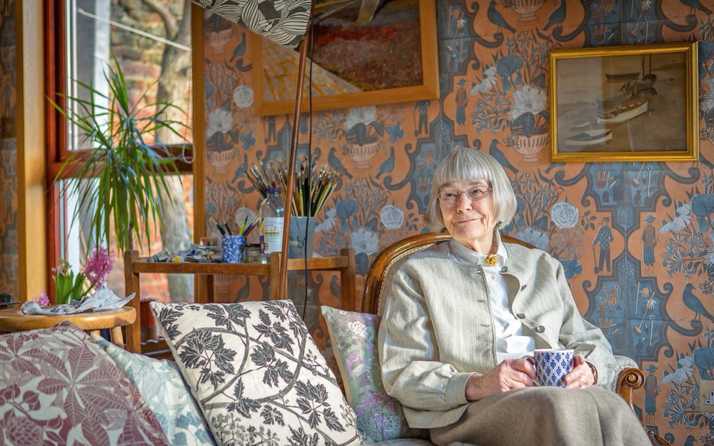 Designer Marthe Armitage at home | via: chatham st. house