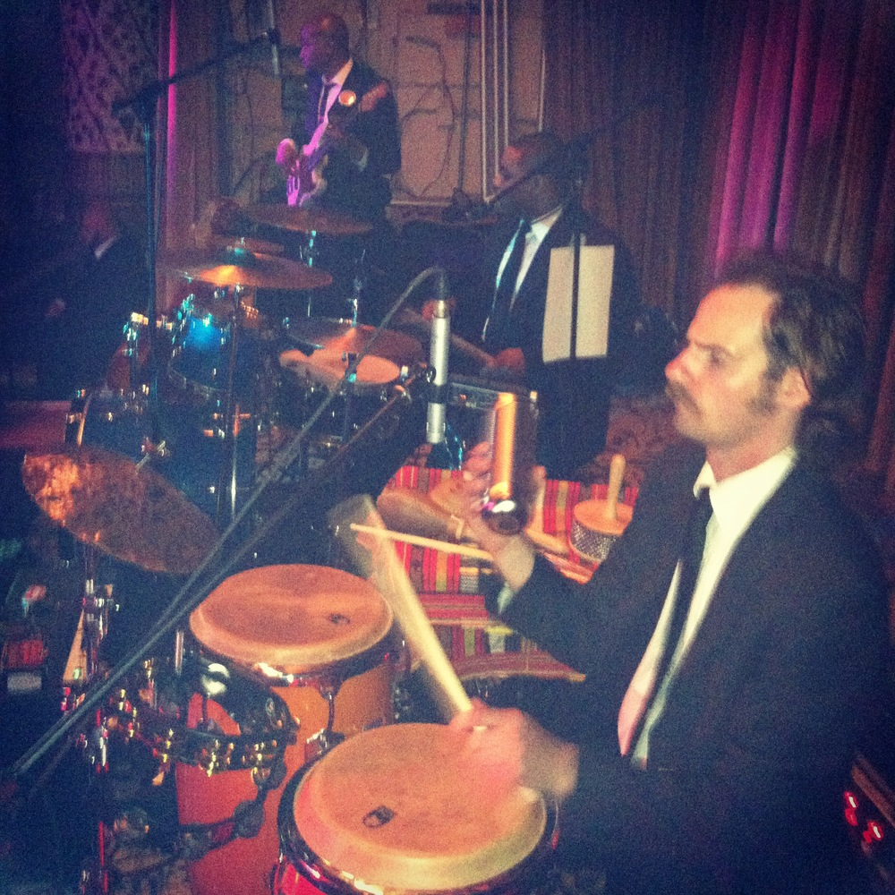 Myself Rocking Percussion at  The Drake Hotel  with  The Gold Coast Allstars Wedding Band  6/28/14.   What an Incredible band  Danny Chaimson  leads.  Saturday June 28th 2014 was a full day to remember!!!