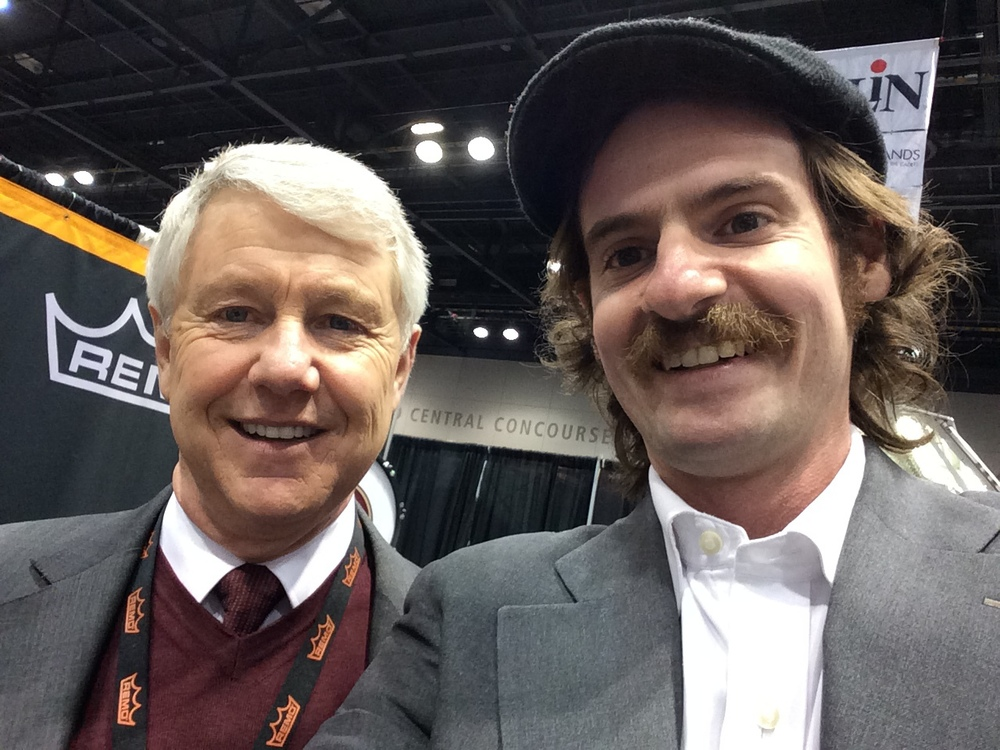 President of Remo, Inc. Brock Kaericher & I at The Midwest Clinic in Chicago 12/18/14