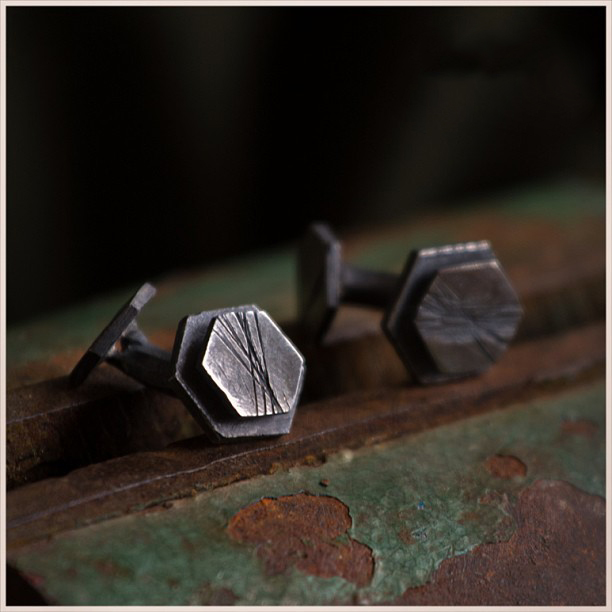 Black Custom Groomsmen Cufflinks